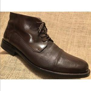 JOHNSTON & MURPHY Chukka Boot Cap Toe Leather 11.5